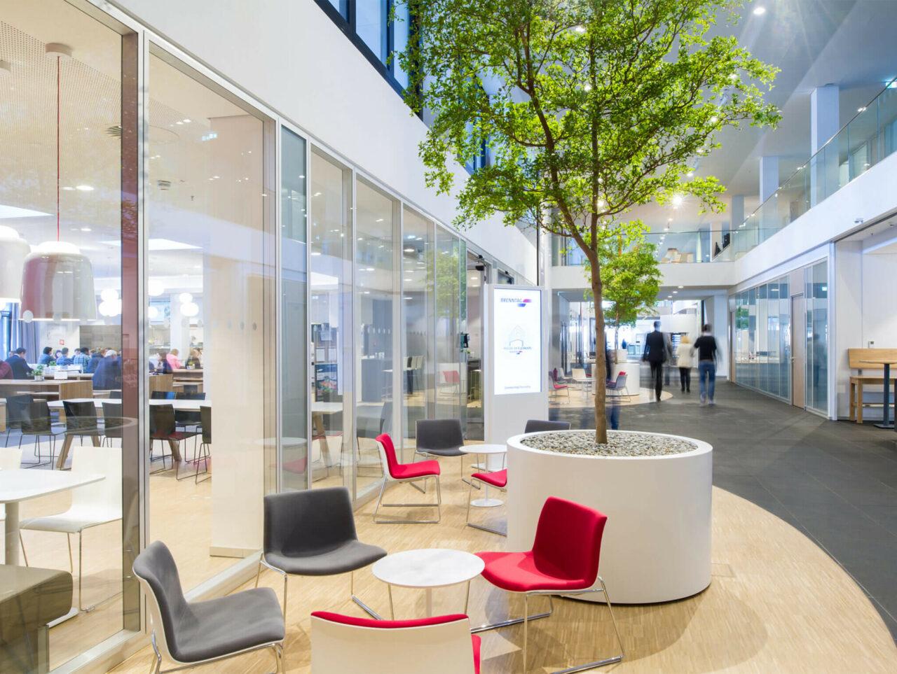 Brenntag House of Elements Essen Bürogebäude Innenarchitektur Sitzlandschaft