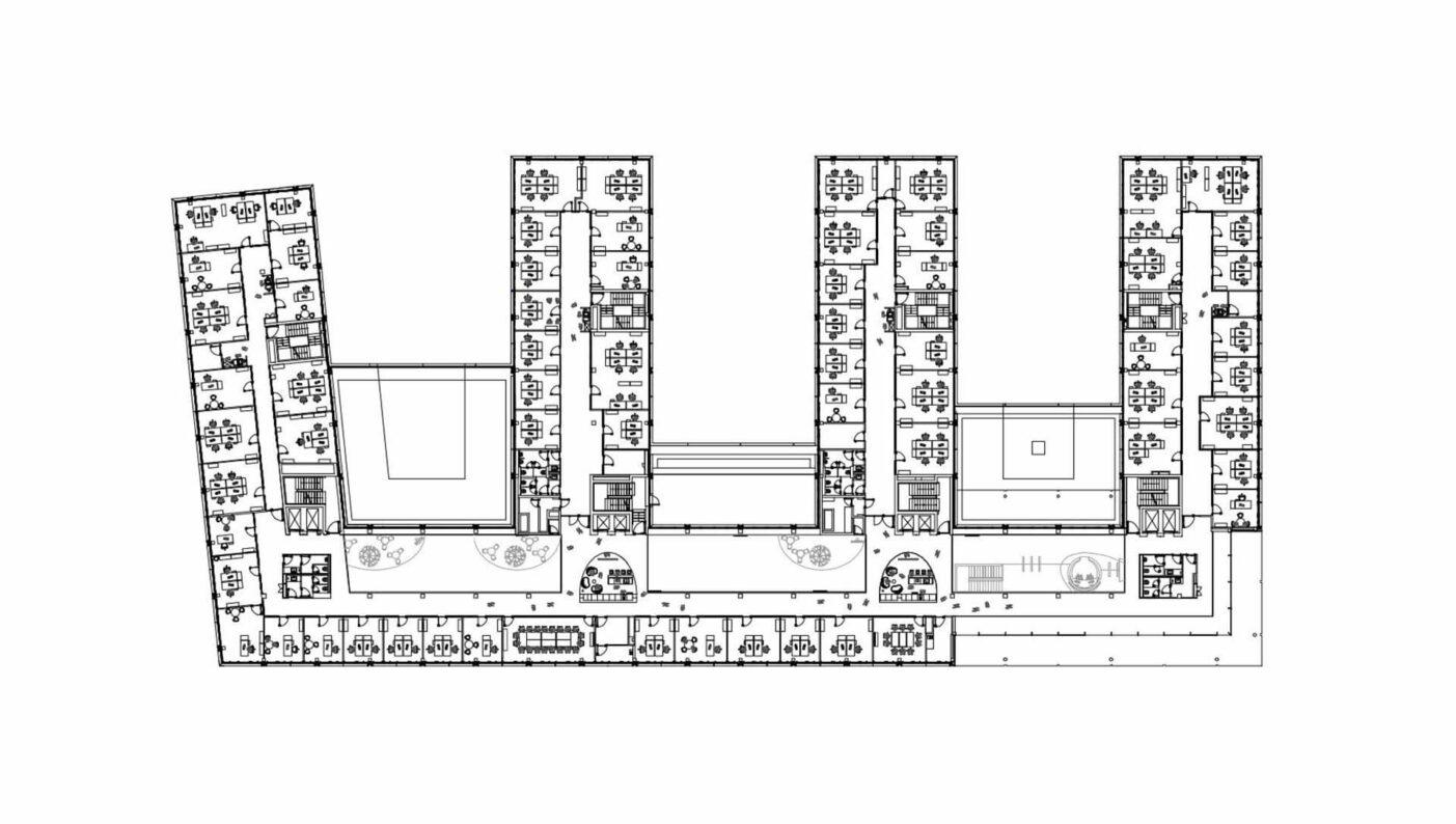 Brenntag House of Elements Essen Bürogebäude Innenarchitektur Zeichnung Grundriss