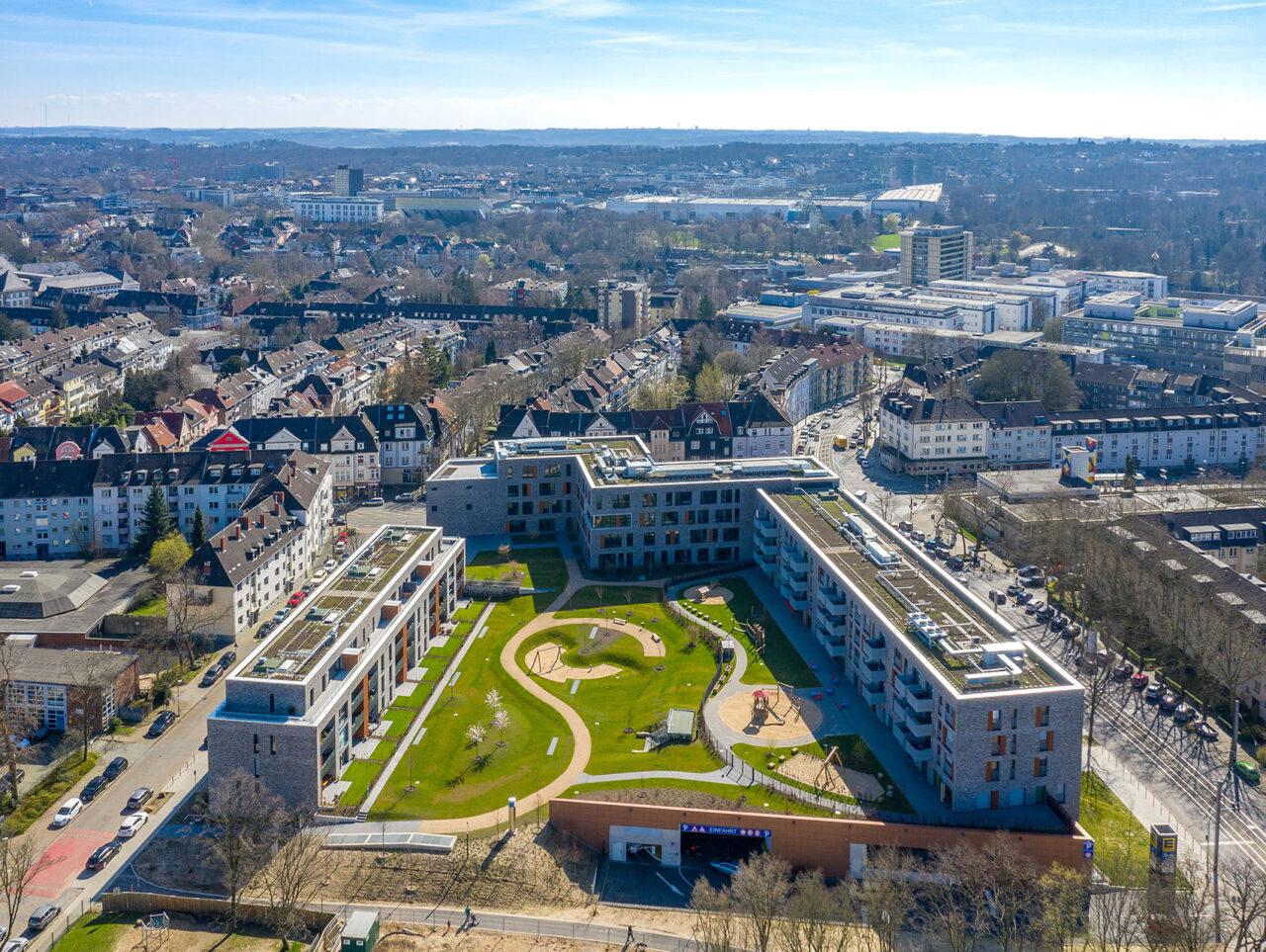 Cranachhöfe Essen Holsterhausen Neubauprojekt Luftbild