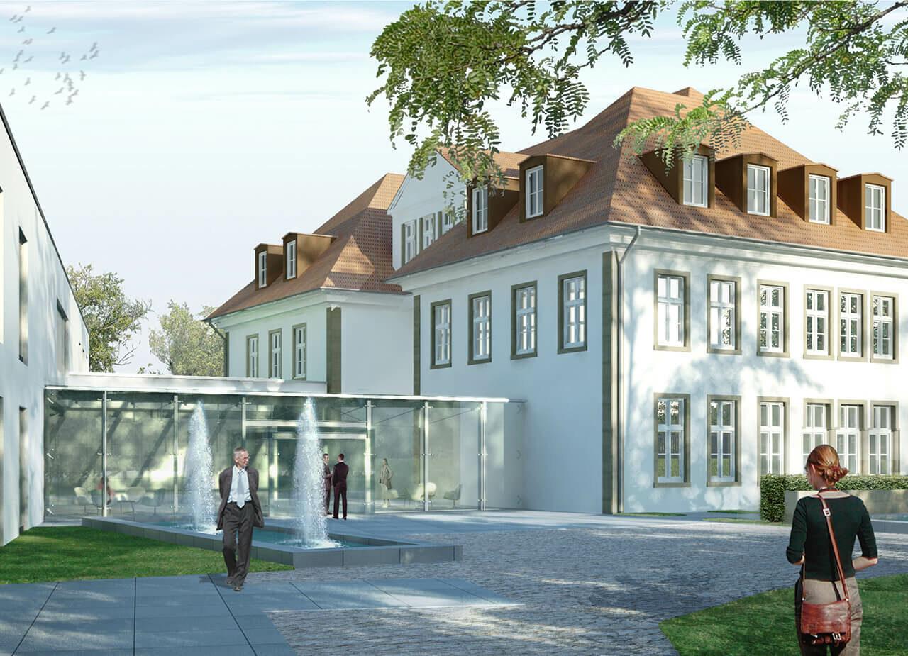 Draiflessen Mettingen Kunstmuseum C&A Rendering Landhaus