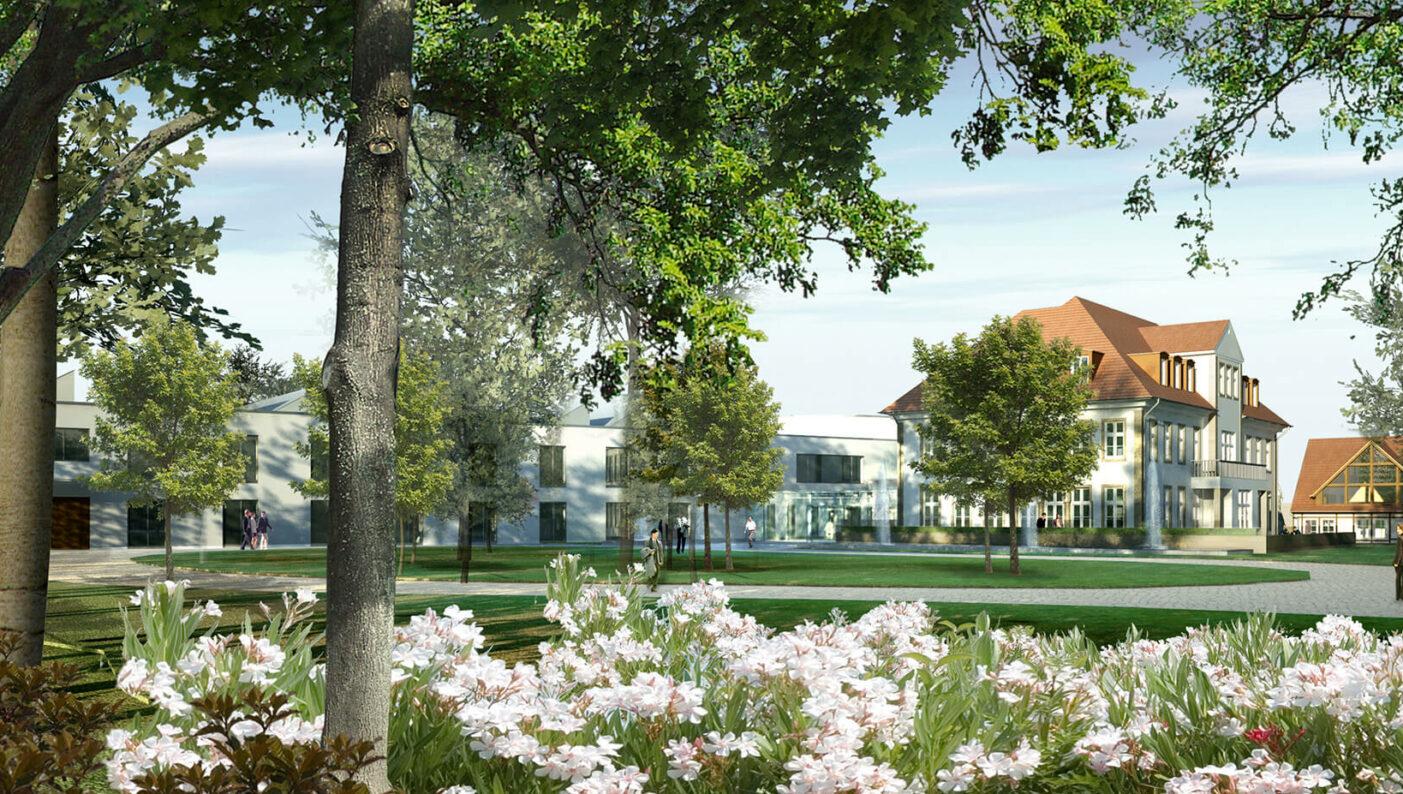 Draiflessen Mettingen Kunstmuseum C&A Rendering Landschaft