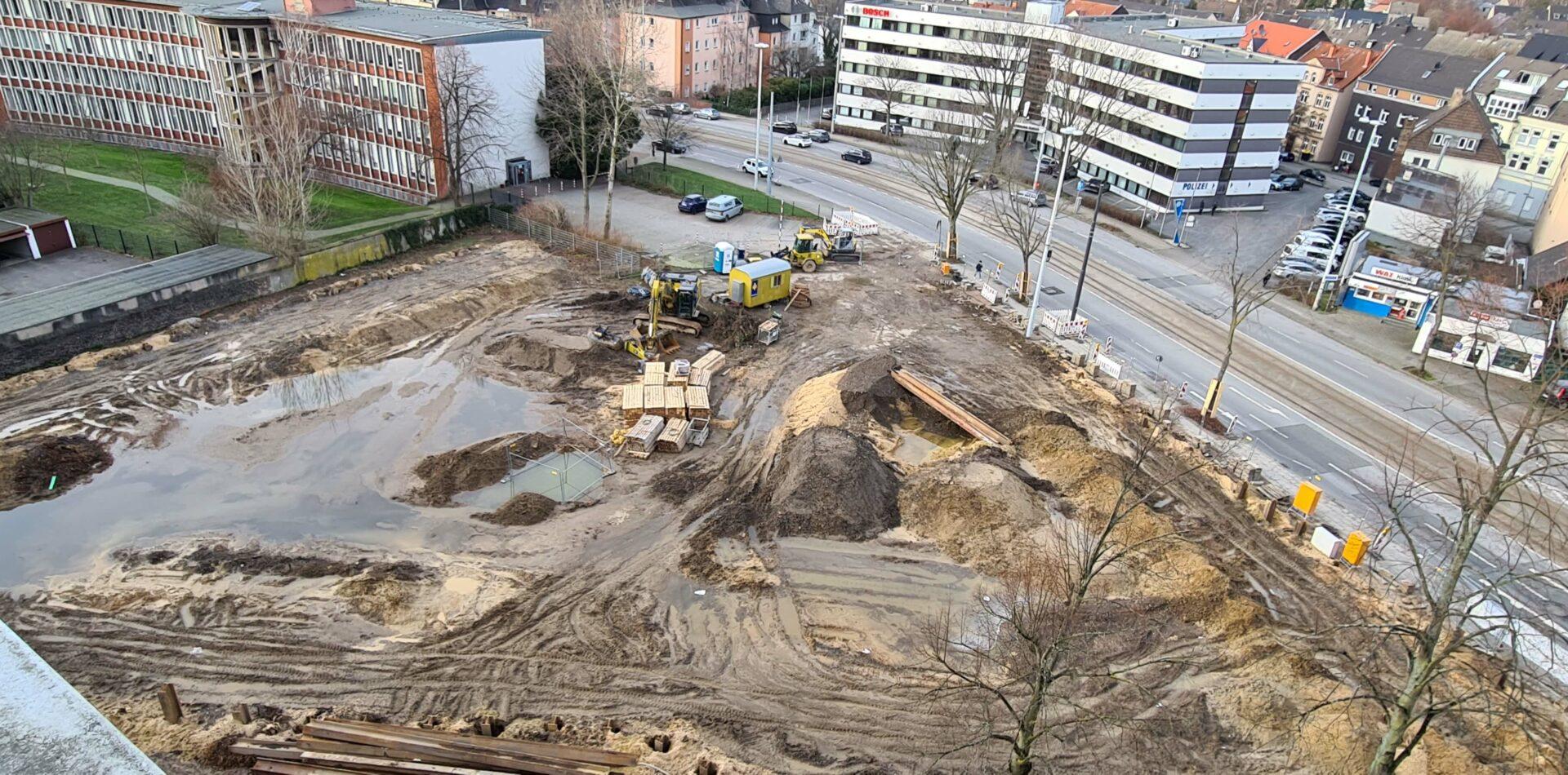 Voedestrasse Baustelle Stadtentwicklung Wattenscheid