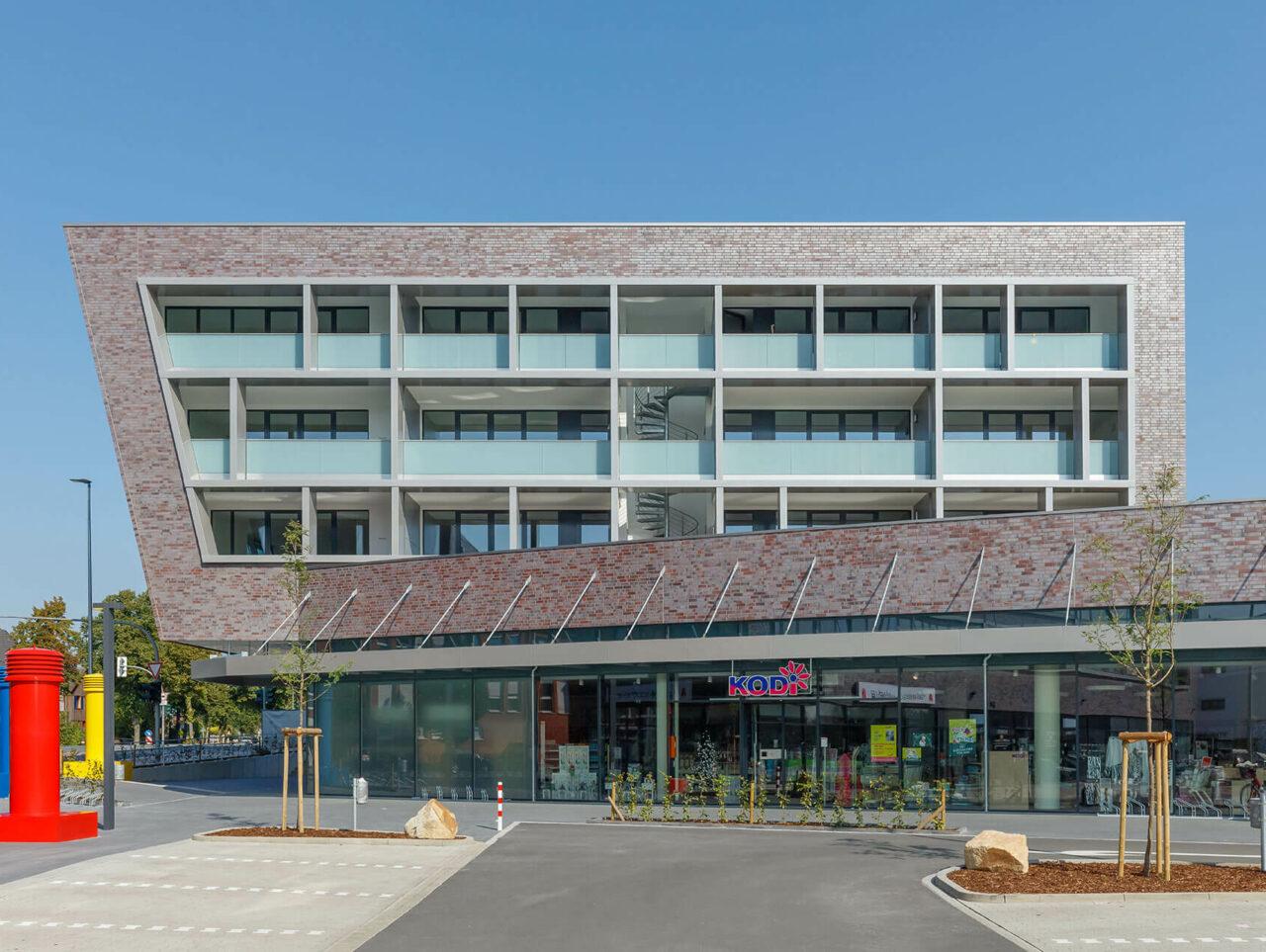 Zentrum Edeka Wohnen Münster Hiltrup Einzelhandel Eingang