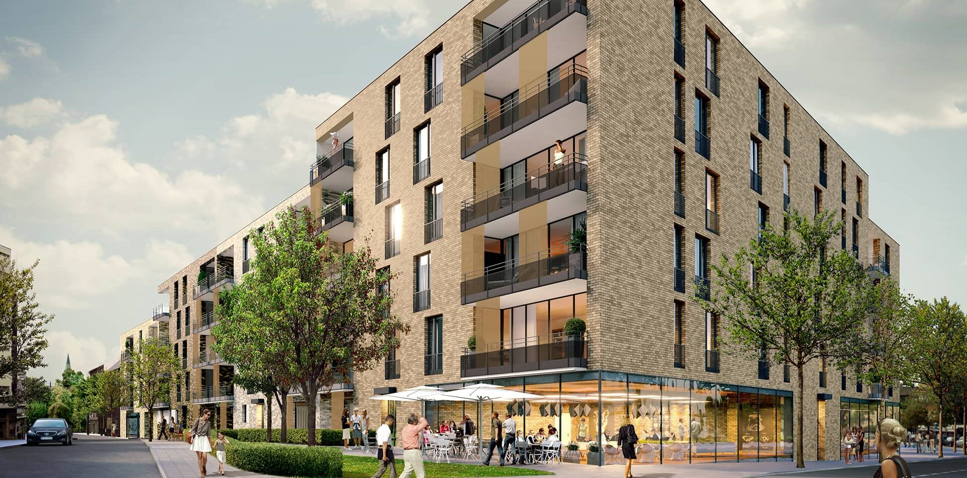 Bochum Voedestraße Wattenscheid Randbebauung Wettbewerb Projekt Lageplan Strassenansicht
