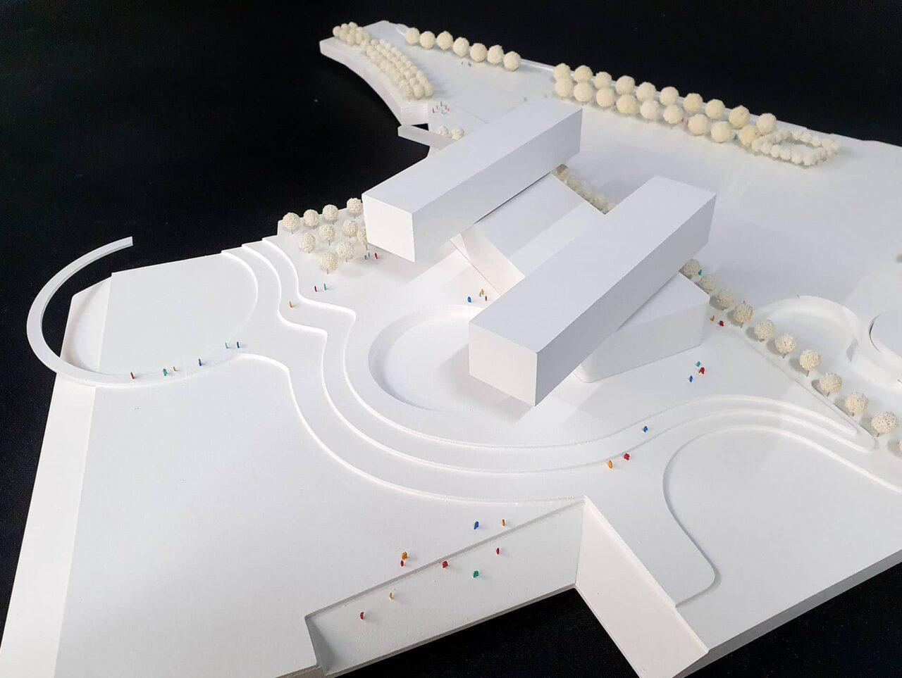 Düsseldorf Erweiterung Landtag am Rheinturm Modell 3