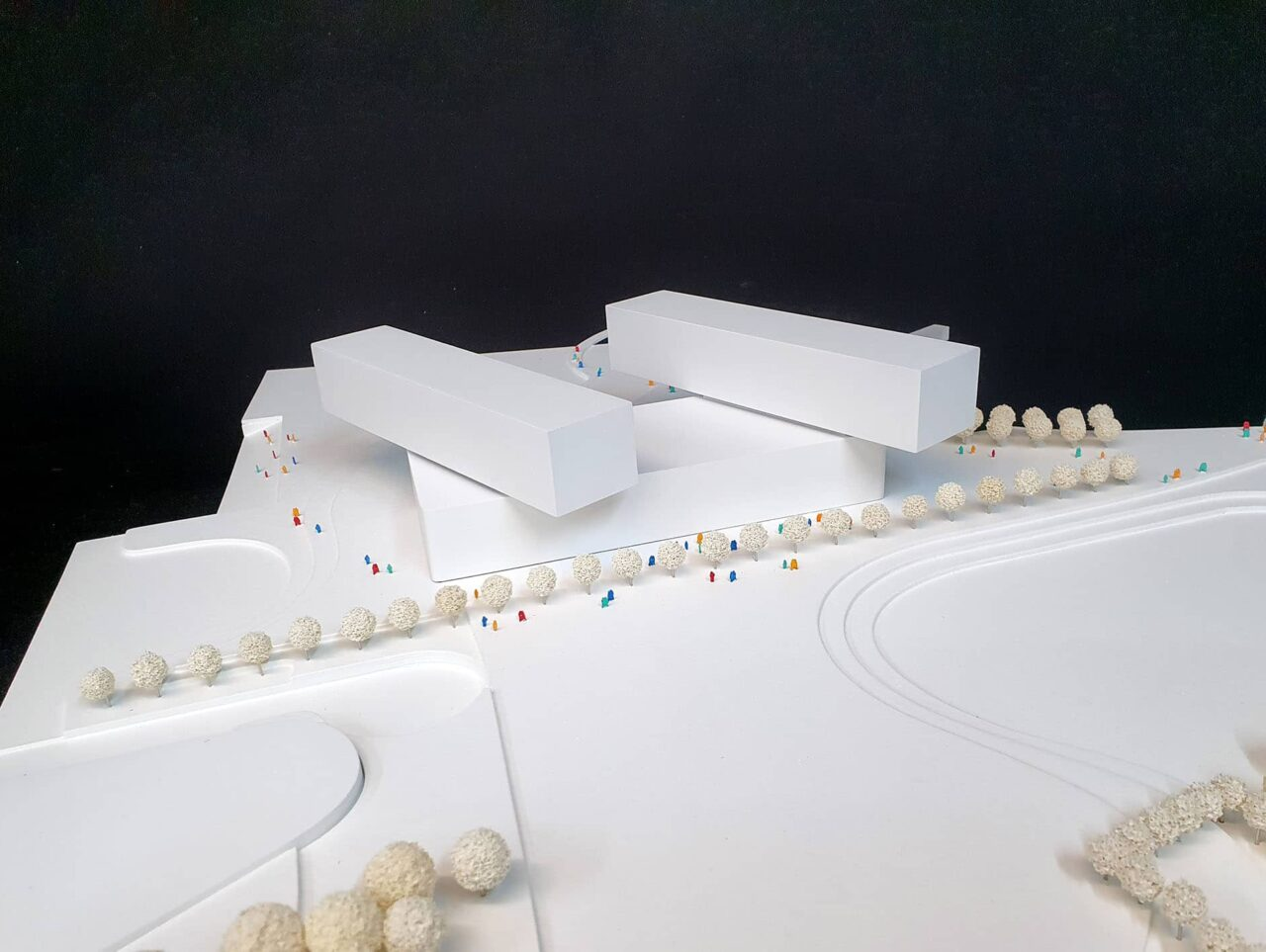 Düsseldorf Erweiterung Landtag am Rheinturm Modell 6