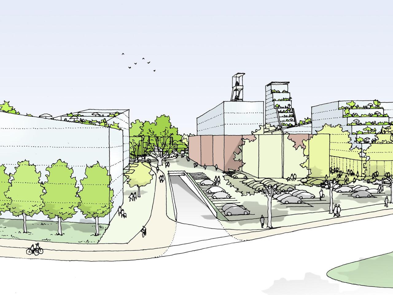 Essen51 4ter Preis Modulares Band Visualisierung Parkplatz