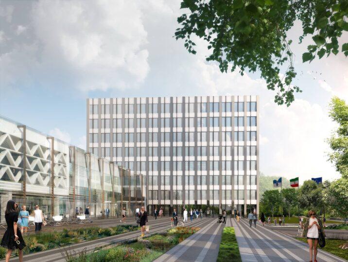 Rathaus Arnsberg Glasdach Glasfassade Visualisierung Ansicht