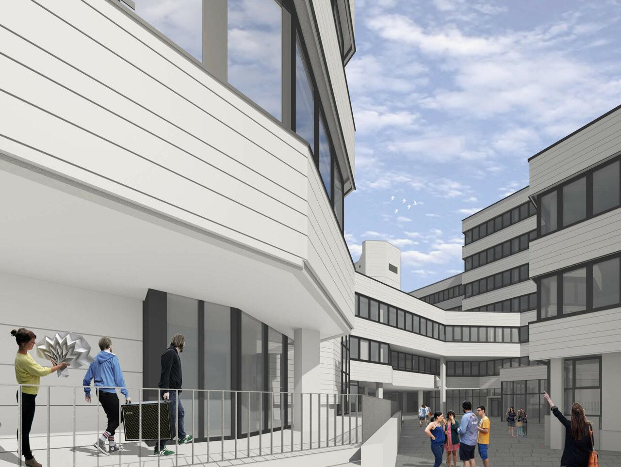 Universität Siegen Modernisierung Sanierung Rendering Ansicht