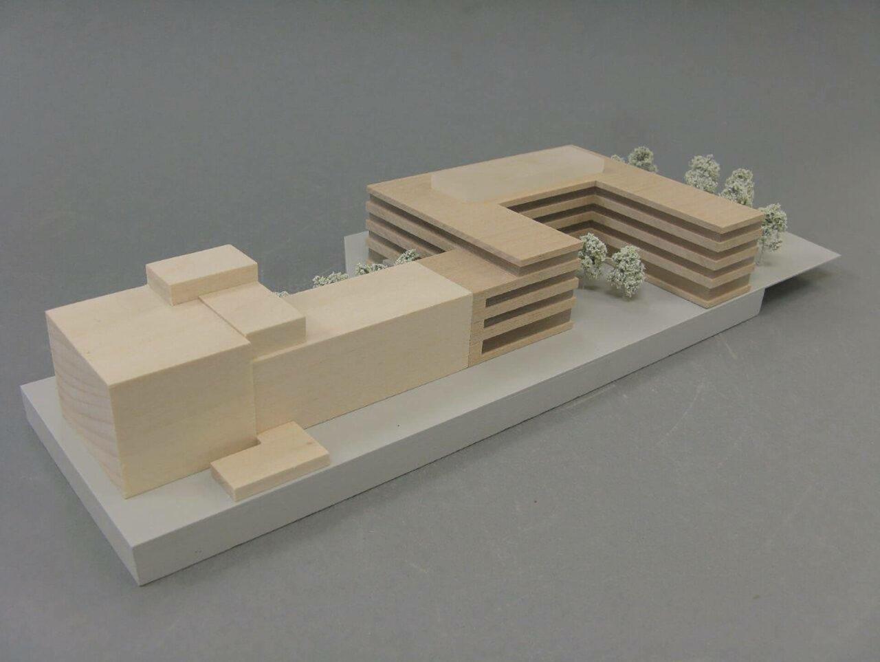 Verwaltungsgebäude Göttingen Eealisierungswettbewerb 2ter Preis Modell
