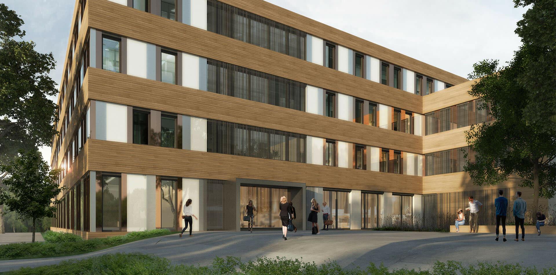 Verwaltungsgebäude Göttingen Eealisierungswettbewerb 2ter Preis Rendering