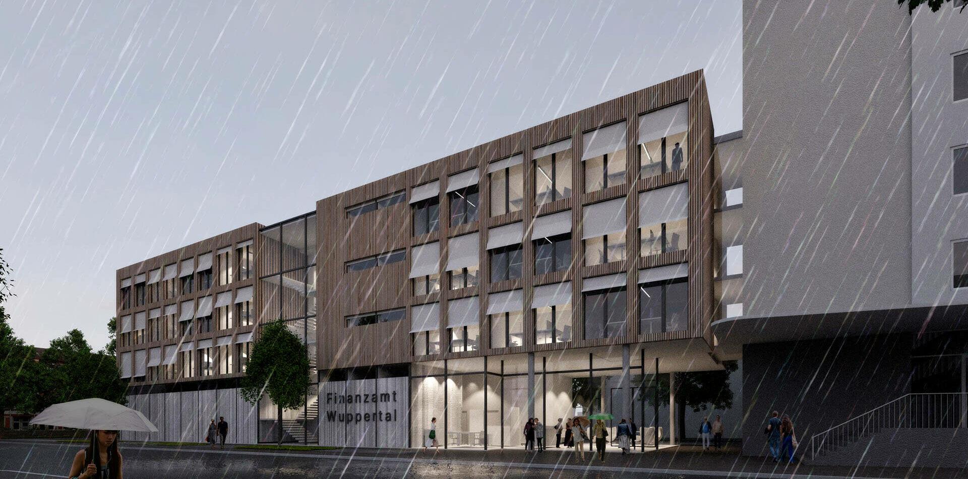 Wuppertal Finanzamt Barmen 2ter Preis Visualisierung front 2