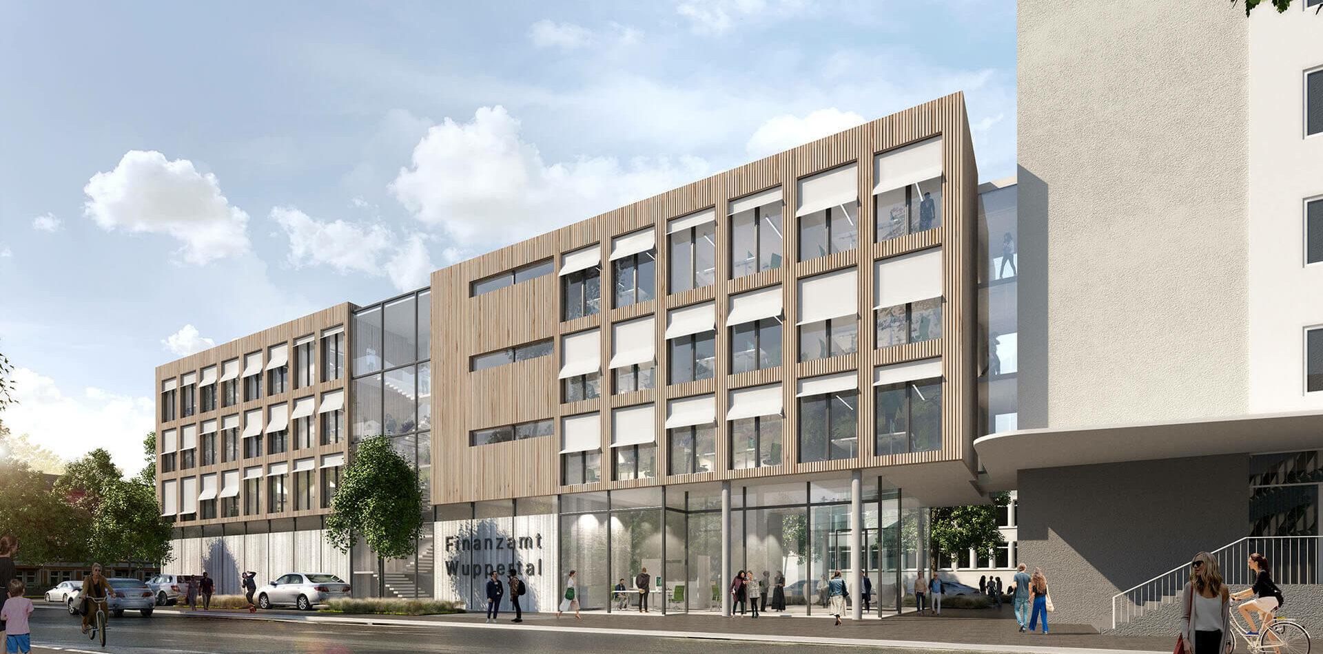 Wuppertal Finanzamt Barmen 2ter Preis Visualisierung front 4