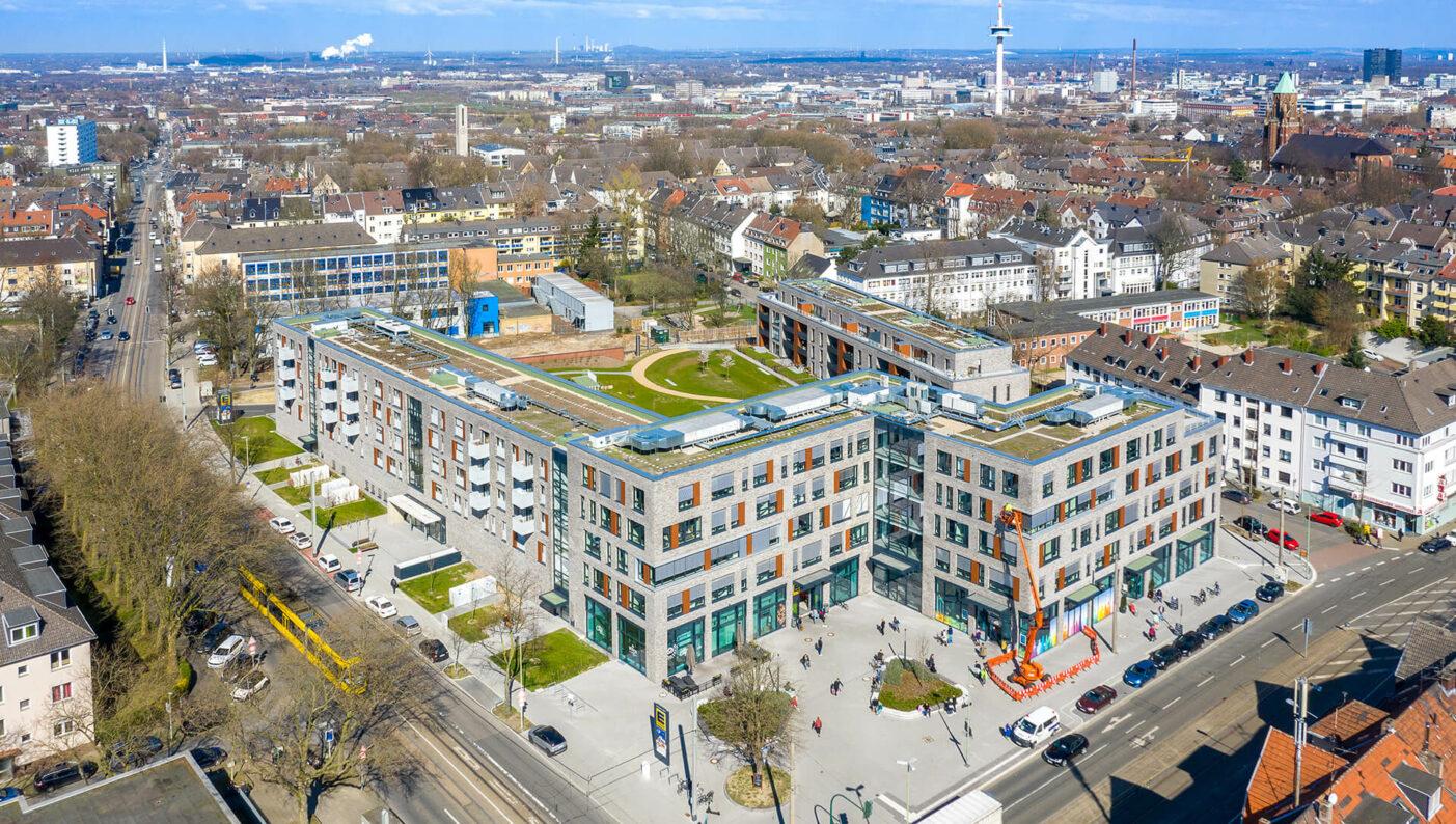 Tag der Architektur Cranachhöfe Essen Luftbild